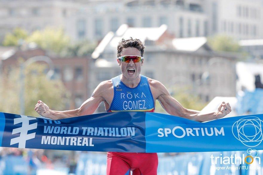 7b273fc9fa9 Top Triathlete Wins The Race Javier Gomez Noya Wearing Sunglasses