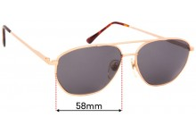 Sunglass Fix Sunglass Replacement Lenses for Ben-Glo Exclusive 53 - 58mm Wide
