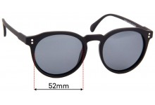 Sunglass Fix Sunglass Replacement Lenses for Cancer Council Bright - 52mm Wide