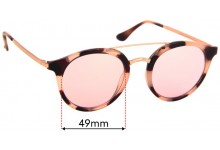 Sunglass Fix Sunglass Replacement Lenses for Cancer Council Australia Chiltern - 49mm Wide