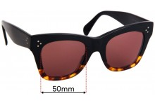 Sunglass Fix Sunglass Replacement Lenses for Celine CL 40004I - 50mm Wide