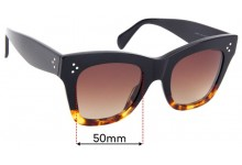 Sunglass Fix Sunglass Replacement Lenses for Celine CL 40004IN - 50mm Wide