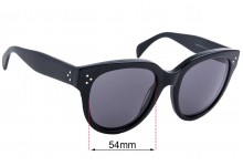 Sunglass Fix Sunglass Replacement Lenses for Celine CL 41755 - 55mm Wide