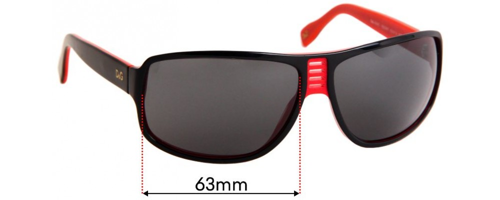 Sunglass Fix Sunglass Replacement Lenses for Dolce & Gabbana DG3045 - 63mm Wide