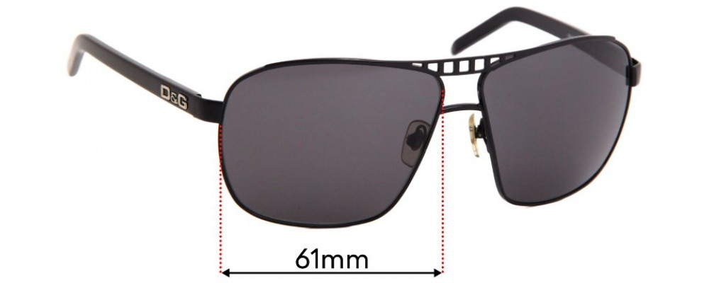 Sunglass Fix Sunglass Replacement Lenses for Dolce & Gabbana DG6040 - 61mm Wide