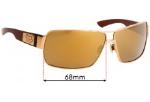 Sunglass Fix Sunglass Replacement Lenses for Fox The Meeting - 68mm Wide
