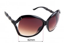 Sunglass Fix Sunglass Replacement Lenses for Gucci GG 3509/S - 62mm Wide