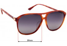 Sunglass Fix Sunglass Replacement Lenses for Gucci GG 0016SA - 59mm Wide