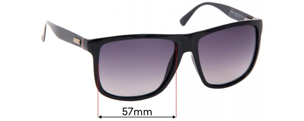 Sunglass Fix Sunglass Replacement Lenses for Gucci GG1075/S - 57mm Wide