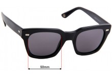 Sunglass Fix Sunglass Replacement Lenses for Gucci GG 1099/S - 50mm Wide