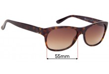 Sunglass Fix Sunglass Replacement Lenses for Gucci GG 1573/S - 55mm Wide