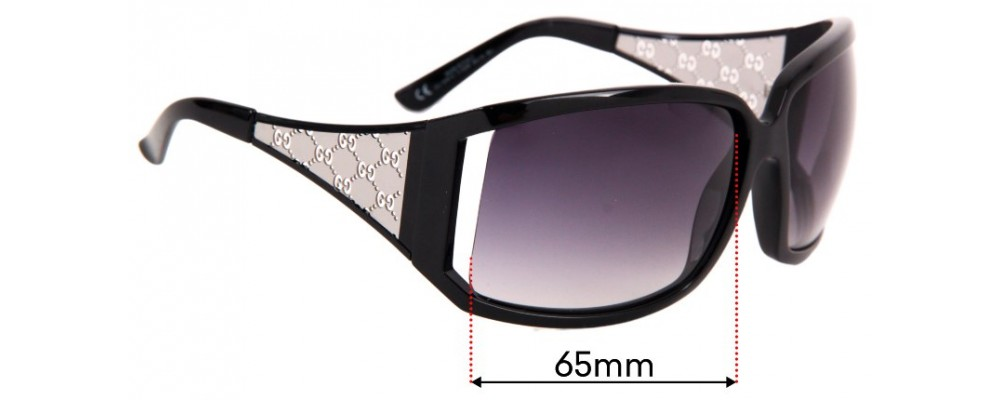 Sunglass Fix Sunglass Replacement Lenses for Gucci Gucci GG 2999/S - 65mm Wide