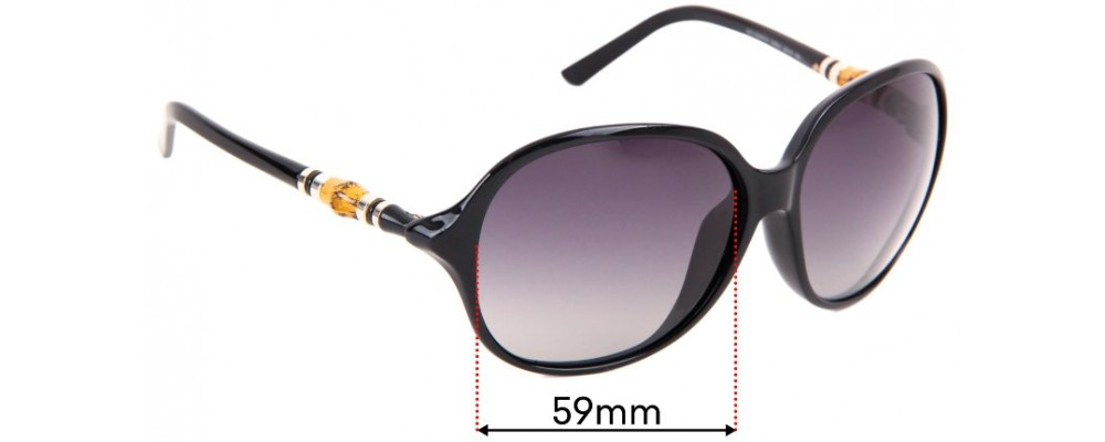 Sunglass Fix Sunglass Replacement Lenses for Gucci GG 3210/K/S - 59mm Wide