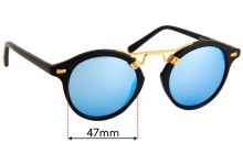 Sunglass Fix Sunglass Replacement Lenses for Krewe St Louis - 47mm Wide