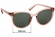 Sunglass Fix Sunglass Replacement Lenses for Le Specs Armada - 54mm Wide