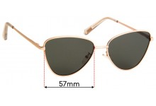 Sunglass Fix Sunglass Replacement Lenses for Le Specs Echo - 57mm Wide