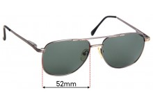 Sunglass Fix Sunglass Replacement Lenses for Legacy MM5020 - 52mm Wide