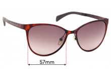 Sunglass Fix Sunglass Replacement Lenses for Marc by Marc Jacobs MMJ 451/S Aioha - 57mm Wide