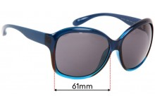 Sunglass Fix Sunglass Replacement Lenses for Marc by Marc Jacobs MMJ 188/S - 61mm Wide