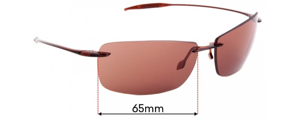 Sunglass Fix Sunglass Replacement Lenses for Maui Jim Lighthouse MJ423 - 65mm Wide