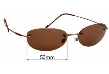 Sunglass Fix Sunglass Replacement Lenses for Maui Jim MJ453 - 53mm Wide