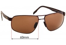 Sunglass Fix Sunglass Replacement Lenses for Maui Jim MJ776 Whitehaven - 63mm Wide