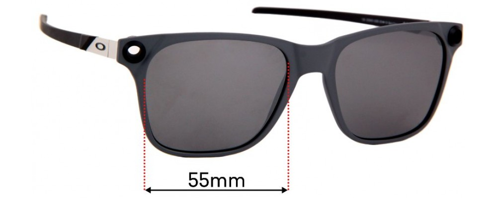Sunglass Fix Sunglass Replacement Lenses for Oakley Apparition OO9451 - 55mm Wide