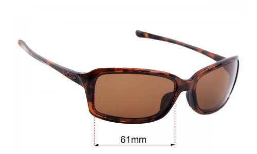 Sunglass Fix Sunglass Replacement Lenses for Oakley Dispute OO9233 - 61mm Wide