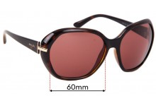 Sunglass Fix Sunglass Replacement Lenses for Prada SPR14N - 60mm Wide