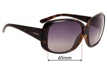 Sunglass Fix Sunglass Replacement Lenses for Prada SPR25N - 61mm Wide