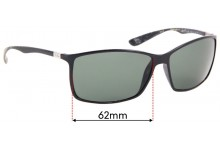 Sunglass Fix Sunglass Replacement Lenses for Ray Ban Liteforce RB4179 - 62mm Wide