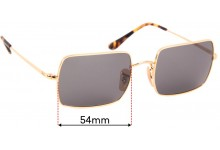 Sunglass Fix Sunglass Replacement Lenses for Ray Ban RB1969 Rectangle - 54mm Wide