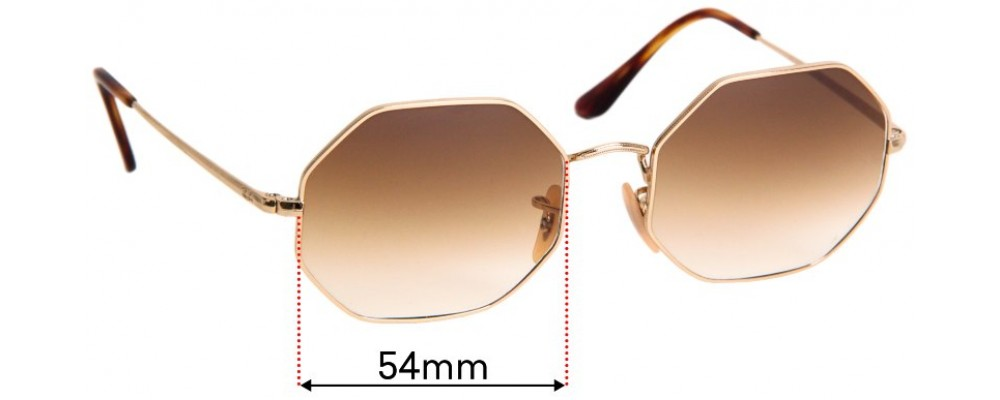 Sunglass Fix Sunglass Replacement Lenses for Ray Ban RB1972 Octagon - 54mm Wide