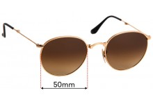 Sunglass Fix Sunglass Replacement Lenses for Ray Ban RB3532 Folding - 50mm Wide