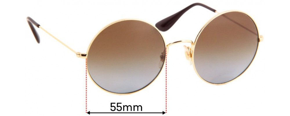 Sunglass Fix Sunglass Replacement Lenses for Ray Ban RB3592 - 55mm Wide