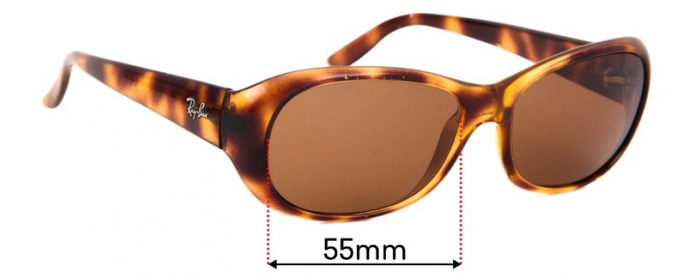 Sunglass Fix Sunglass Replacement Lenses for  Ray Ban RB4061 - 55mm Wide