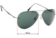 Sunglass Fix Sunglass Replacement Lenses for Ray Ban RB8055 - 59mm * The Sunglass Fix cannot make lenses for these sunglasses *