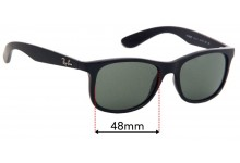 Sunglass Fix Replacement Lenses for Ray Ban JR RJ9062S - 48mm Wide