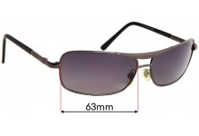 Sunglass Fix Replacement Lenses for Ray Ban WC 8002 - 63mm Wide