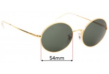 Sunglass Fix Sunglass Replacement Lenses for Ray Ban RB1970 Oval - 54mm Wide