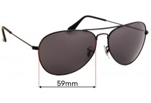 Sunglass Fix Replacement Lenses for Ray Ban RB3432 - 59mm Wide