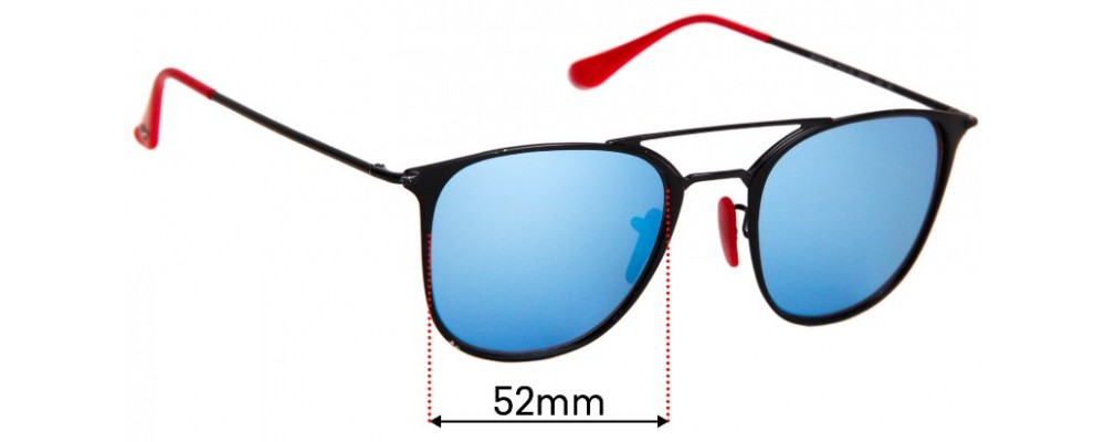 Sunglass Fix Sunglass Replacement Lenses for  Ray Ban RB3601-M - 52mm Wide