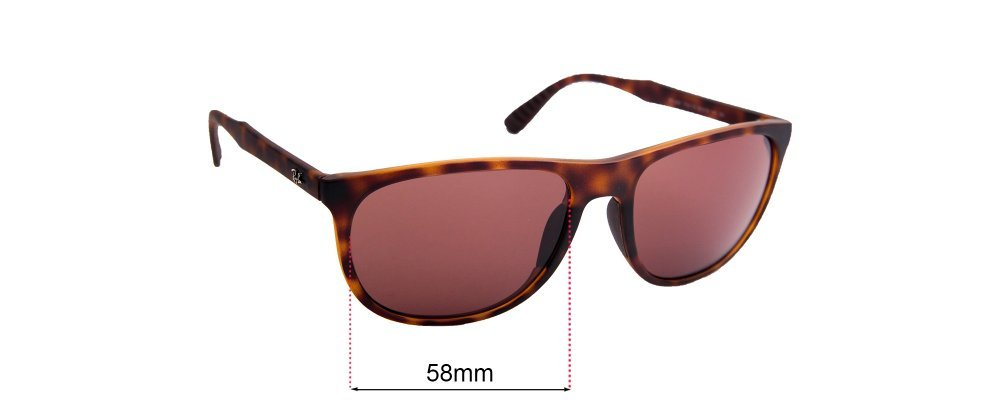 Sunglass Fix Sunglass Replacement Lenses for Ray Ban RB4291 - 58mm Wide
