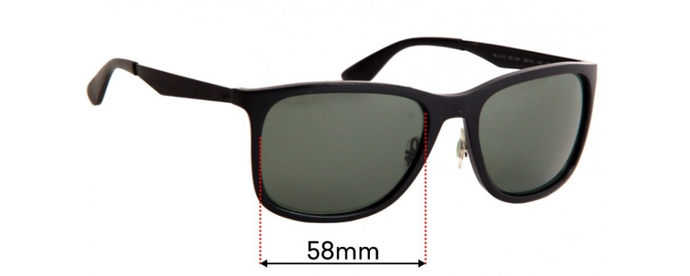 Sunglass Fix Sunglass Replacement Lenses for Ray Ban RB4313 - 58mm Wide