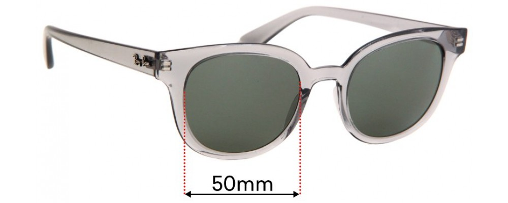 Sunglass Fix Replacement Lenses for Ray Ban RB4324 - 50mm Wide