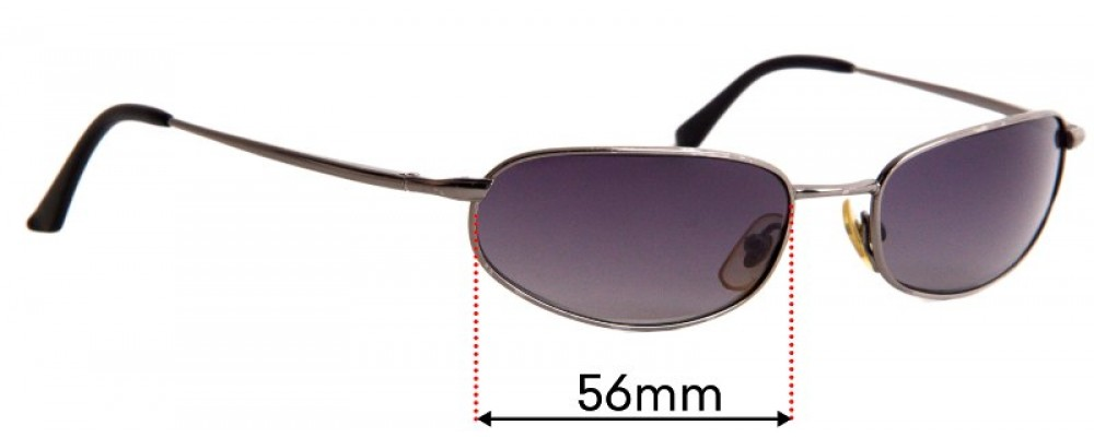 Sunglass Fix Sunglass Replacement Lenses for Ray Ban RB8020 Orbs - 56mm Wide