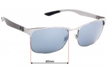 Sunglass Fix Sunglass Replacement Lenses for Ray Ban RB8319 - 60mm Wide