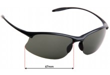 Sunglass Fix Sunglass Replacement Lenses for Serengeti Maestrale - 67mm Wide