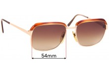 Sunglass Fix Sunglass Replacement Lenses for L'AMY Laurent - 54mm Wide