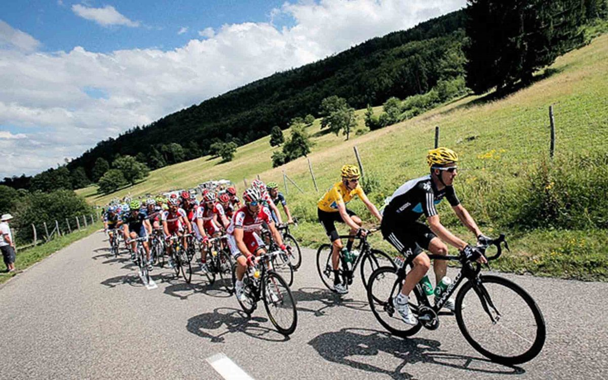 Sunglasses are a must for the Tour de France